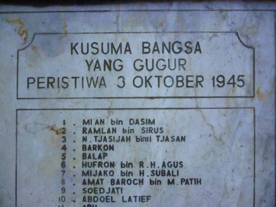 Daftar Nama Korban Tragedi 3 Oktober 1945 Pekalongan