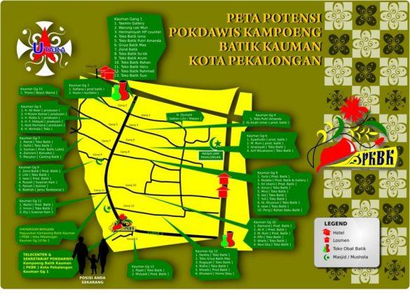 PETA Kampung Batik kauman