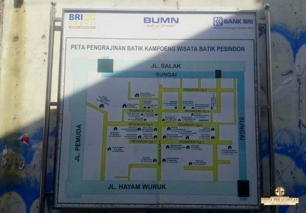 Peta Kampung Batik Pesindon