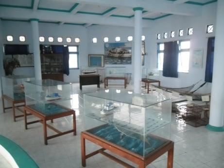 Miniatur kapal Koleksi Wisata Bahari Pekalongan