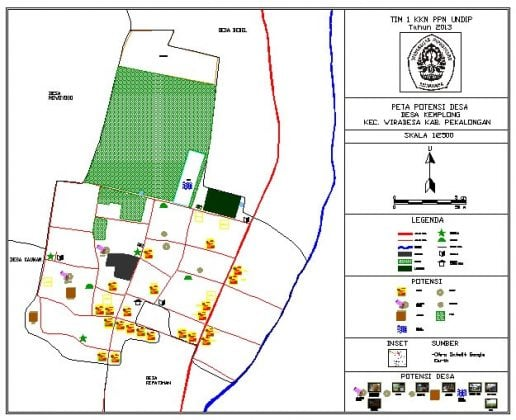 Peta Desa Wisata Kampung Batik Kemplong Wiradesa