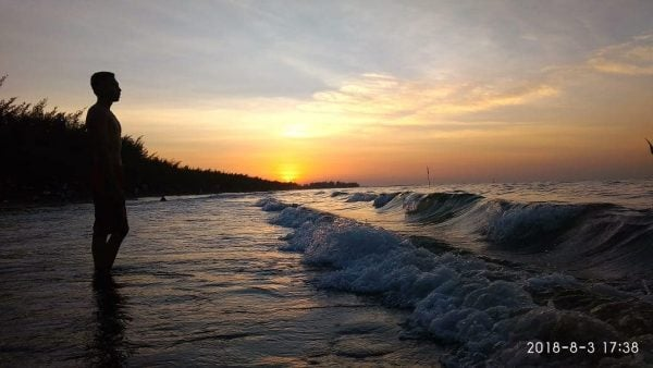 Sunset Pantai wonokerto - by mastorii_